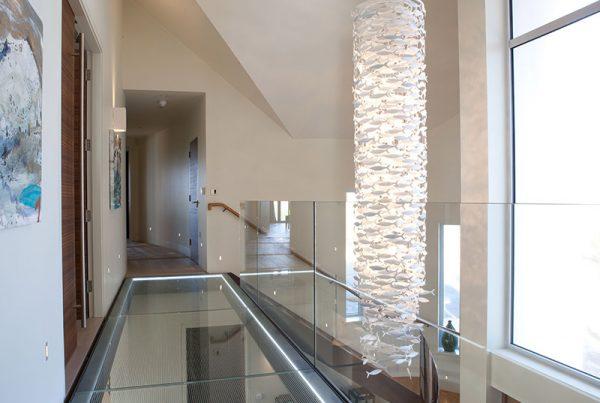 Walk on glass floors